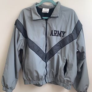Army issued jacket windbreaker Large short